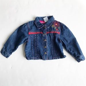 Vintage Kids headquarters dark denim jacket 3T